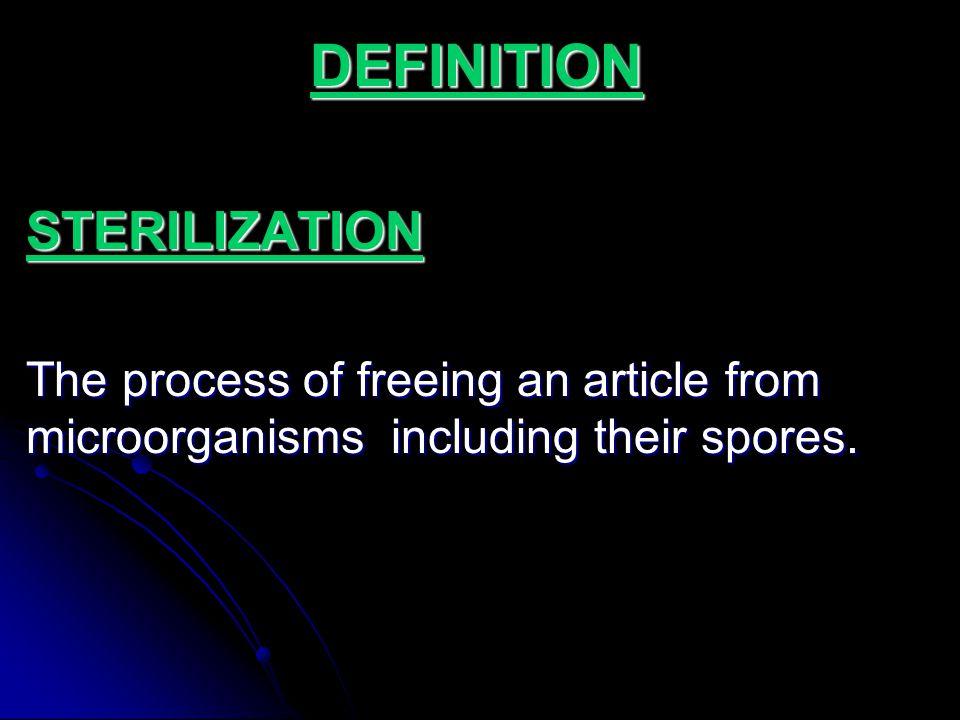 DEFINITION STERILIZATION