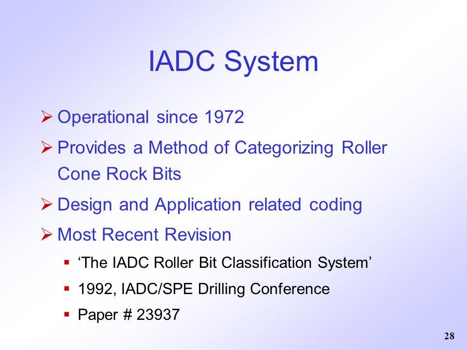 IADC System Operational since 1972