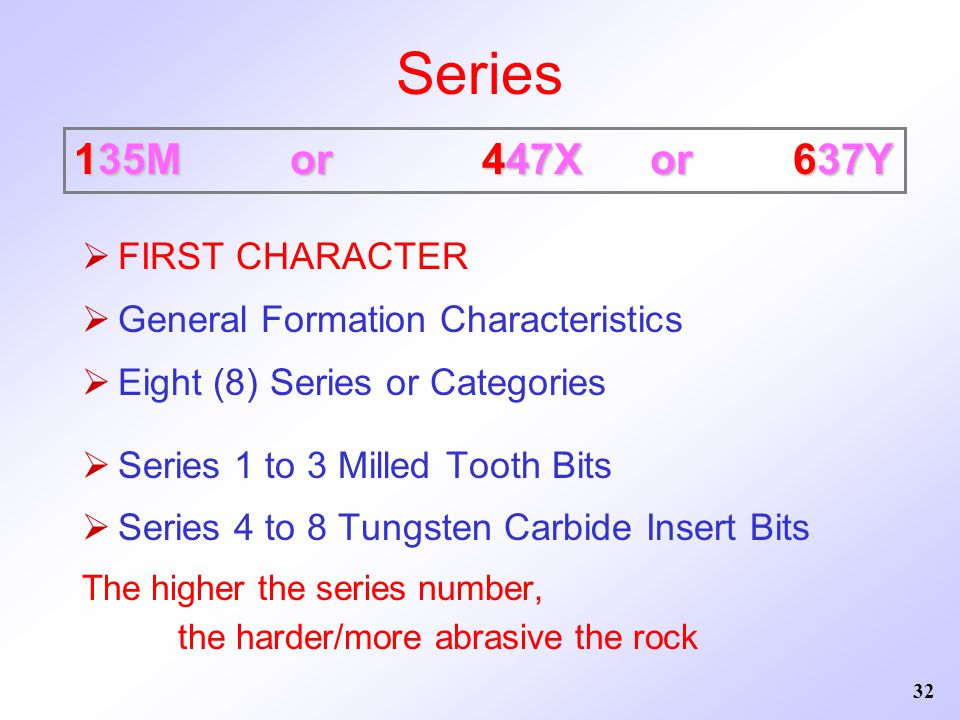Series 135M or 447X or 637Y FIRST CHARACTER