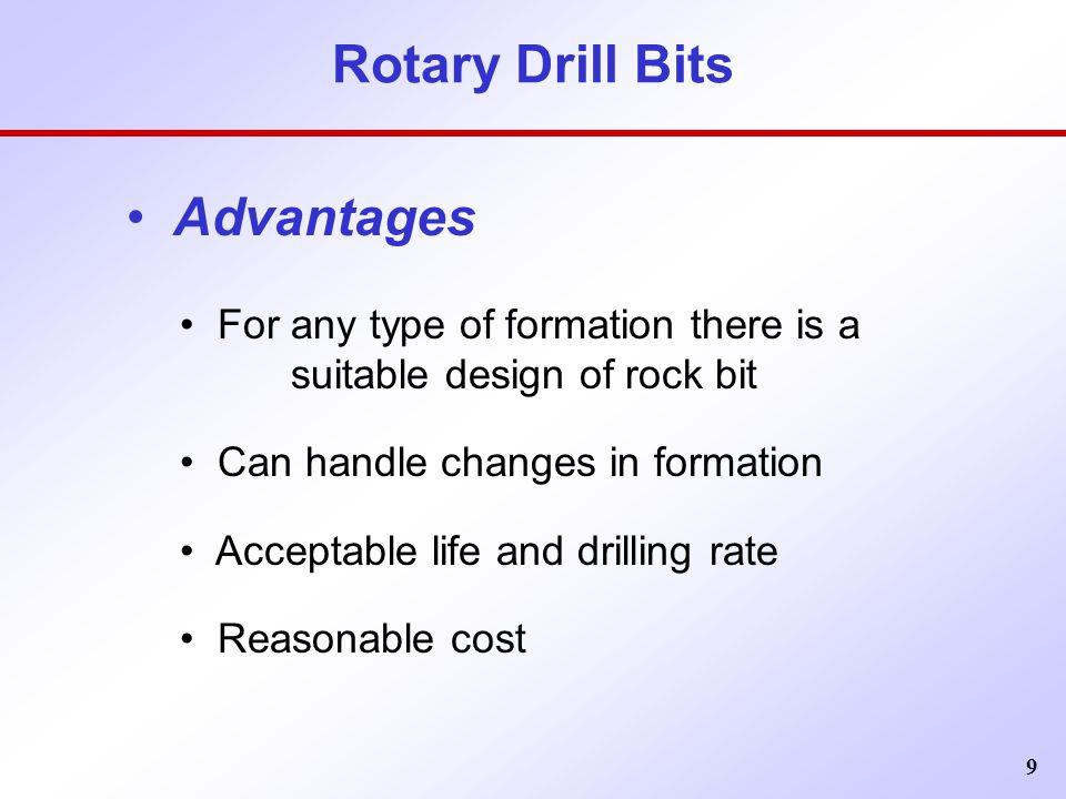 Rotary Drill Bits Advantages