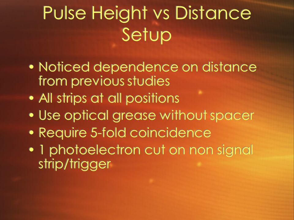 Pulse Height vs Distance Setup