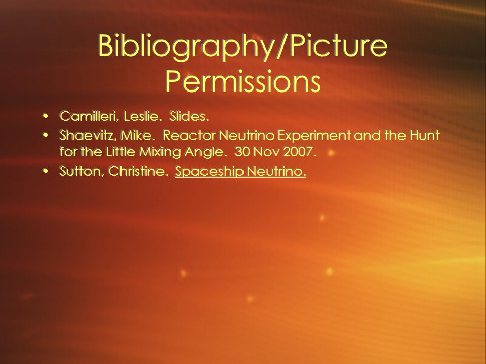 Bibliography/Picture Permissions