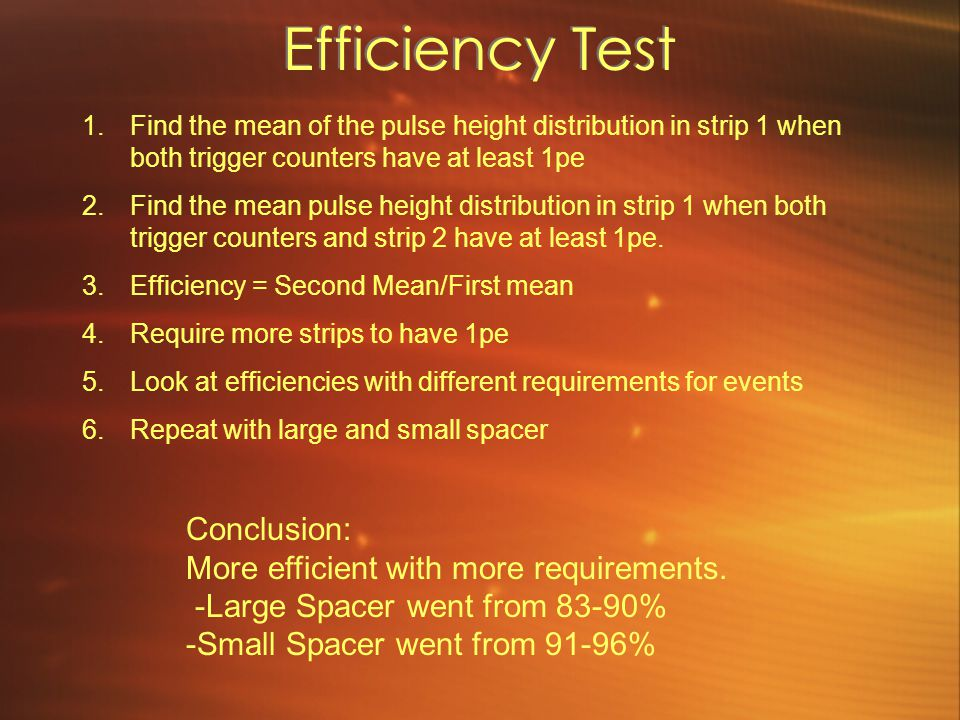 Efficiency Test Conclusion: More efficient with more requirements.