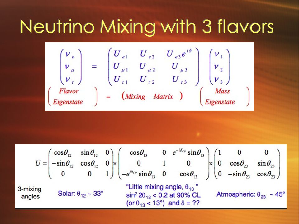 Neutrino Mixing with 3 flavors