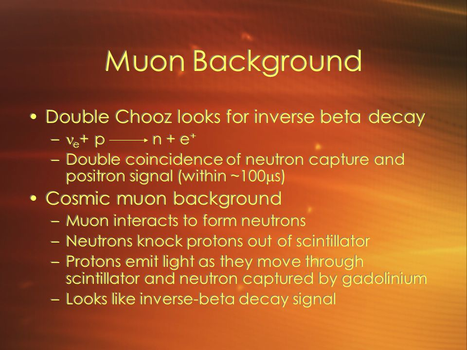 Muon Background Double Chooz looks for inverse beta decay