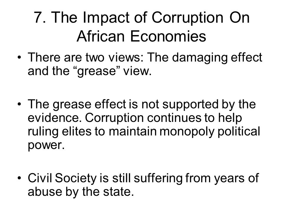 7. The Impact of Corruption On African Economies