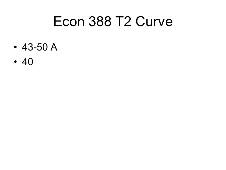 Econ 388 T2 Curve 43-50 A 40