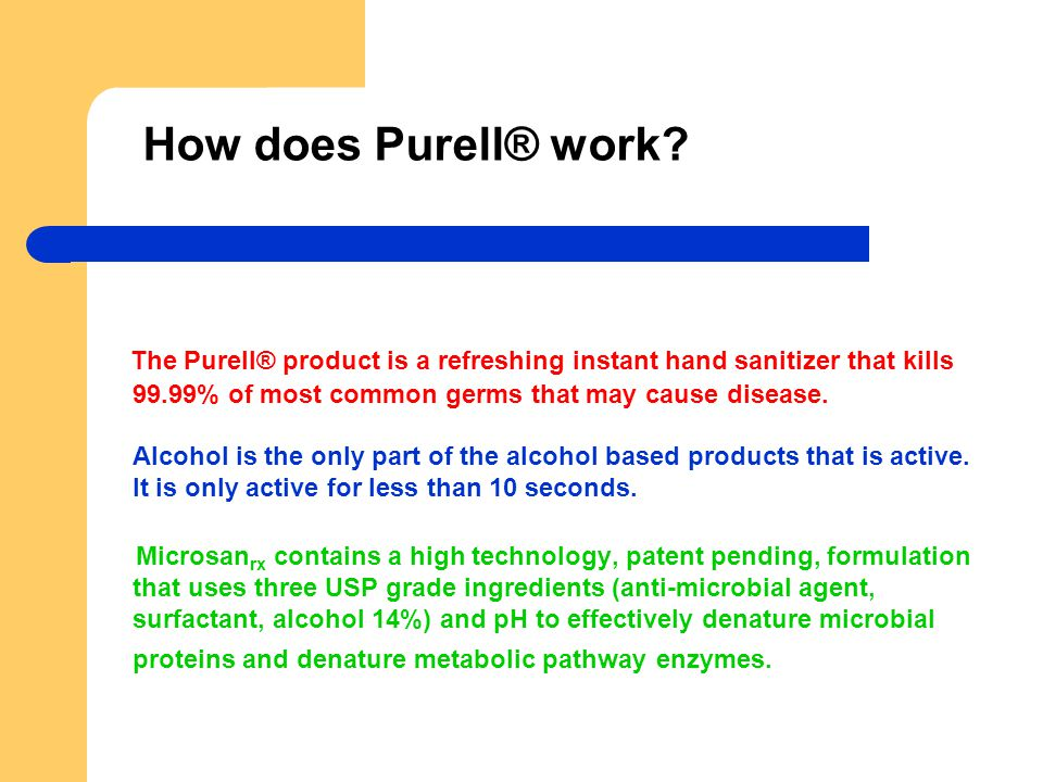 How does Purell® work