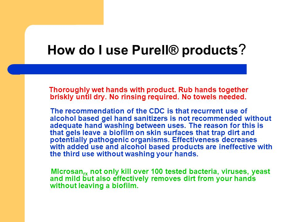 How do I use Purell® products