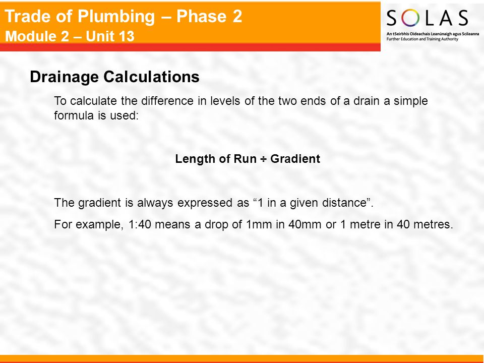 Drainage Calculations