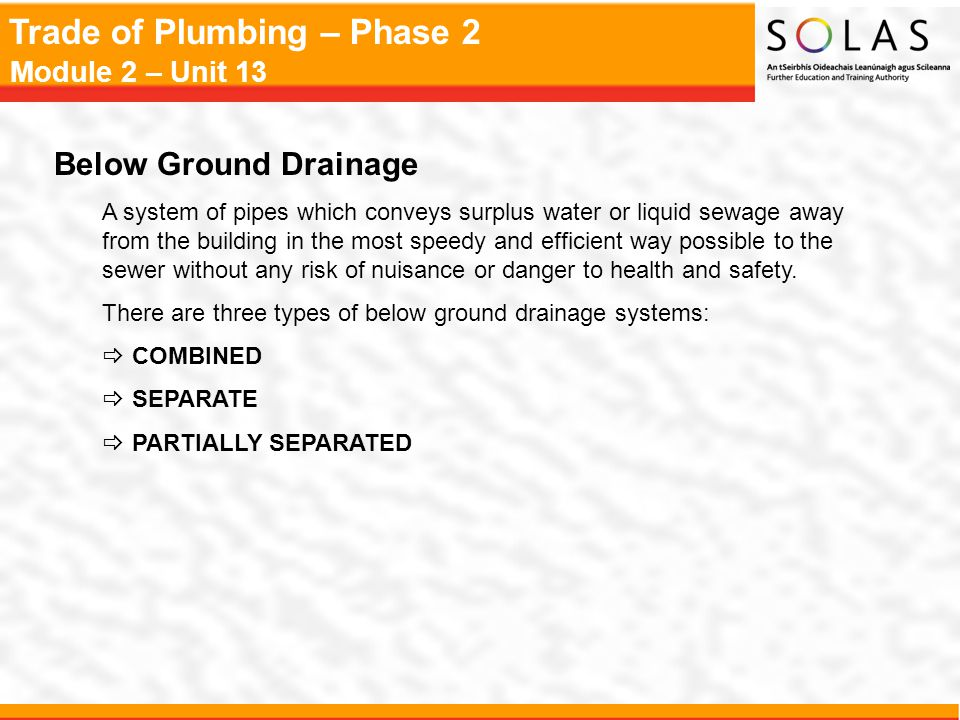 Below Ground Drainage