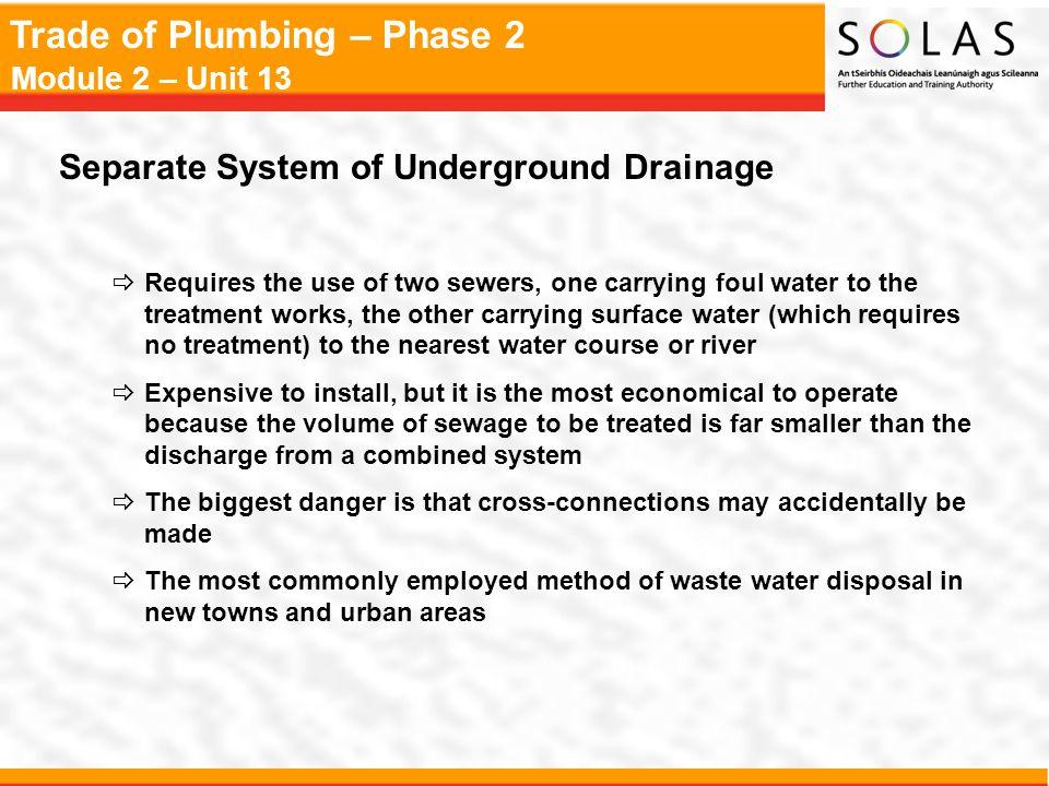Separate System of Underground Drainage