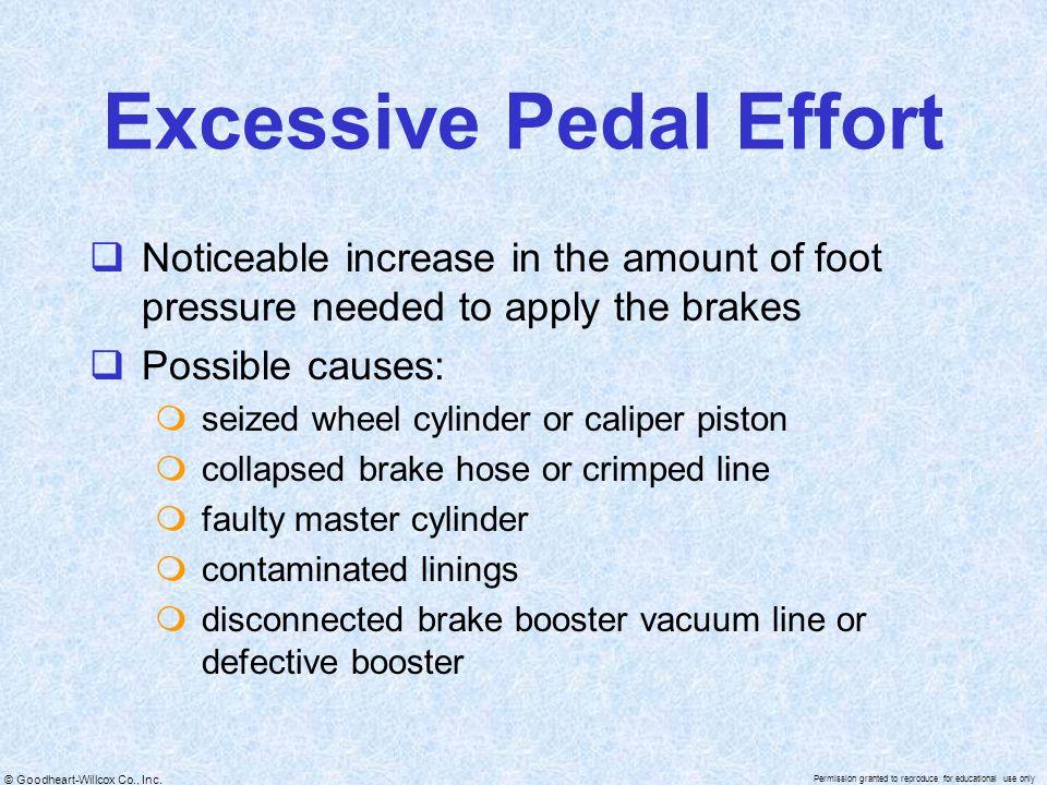 Excessive Pedal Effort