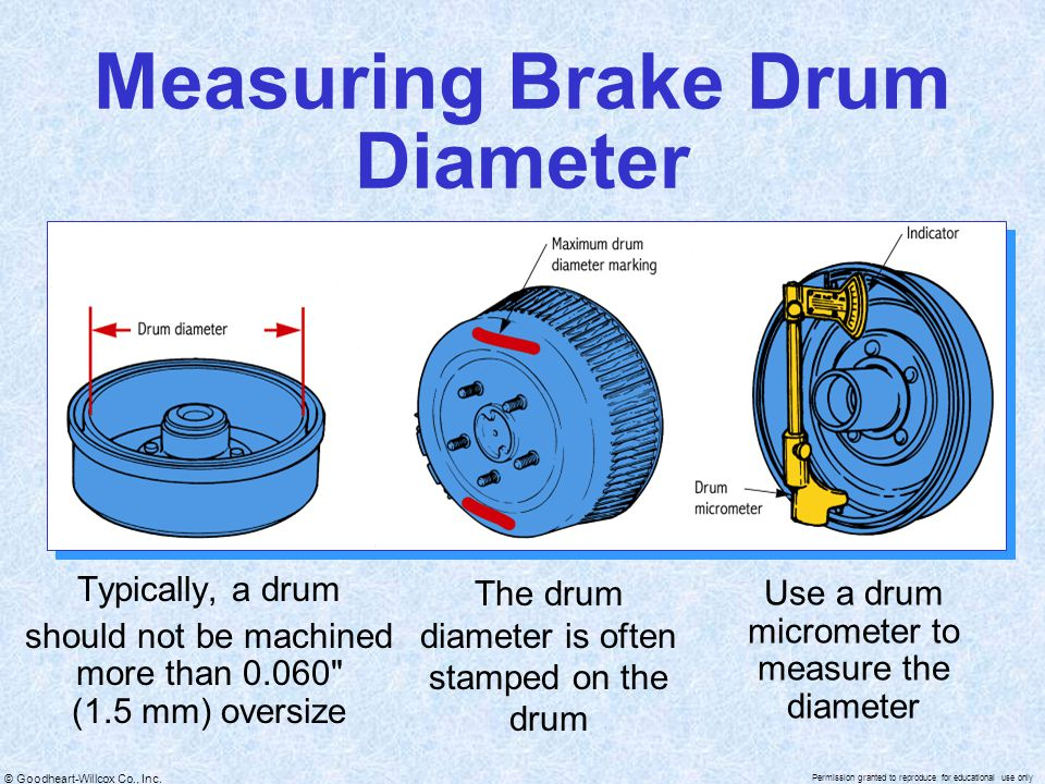 Measuring Brake Drum Diameter