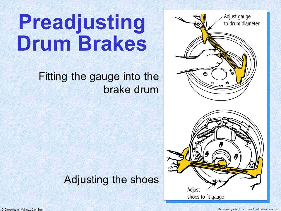 Preadjusting Drum Brakes