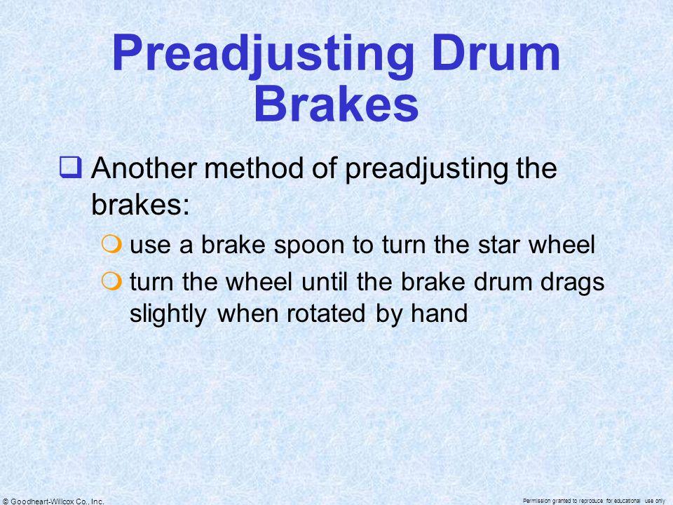 Preadjusting Drum Brakes