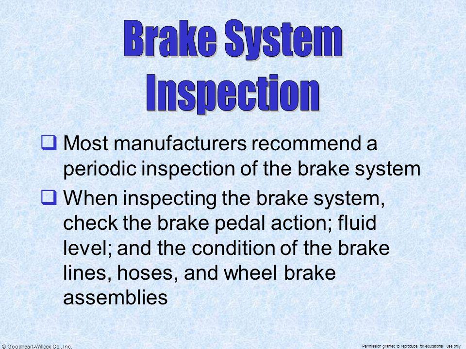 Brake System Inspection