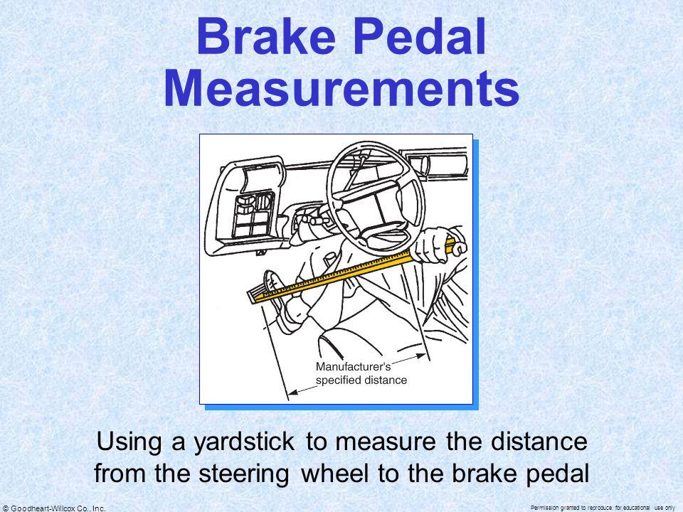 Brake Pedal Measurements