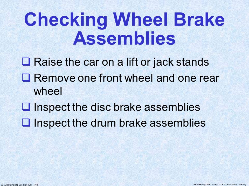 Checking Wheel Brake Assemblies