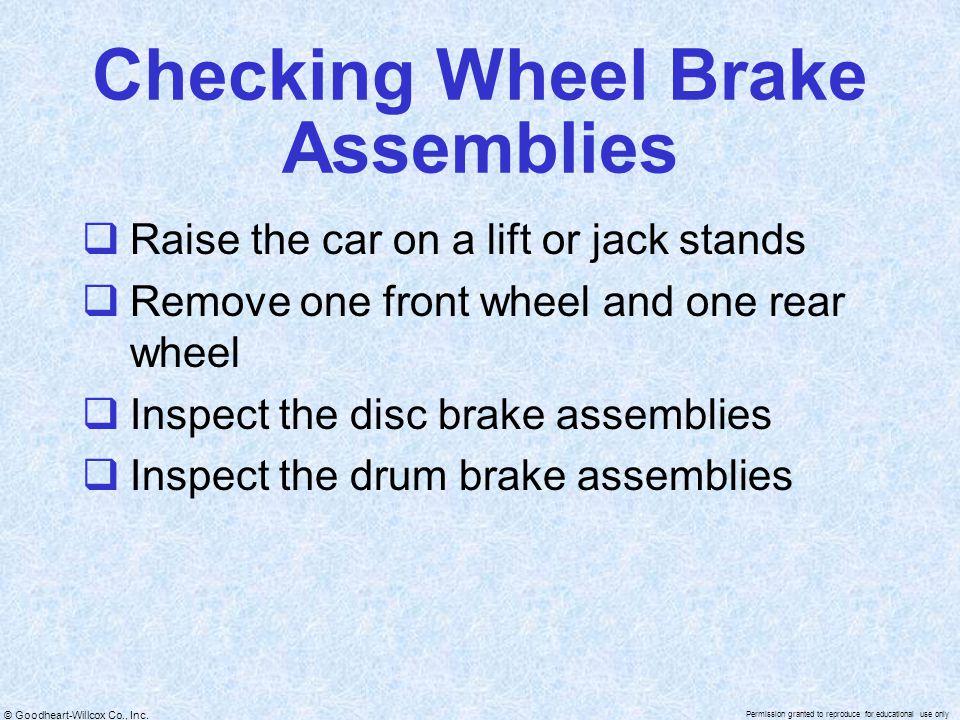 Checking Wheel Brake Assemblies