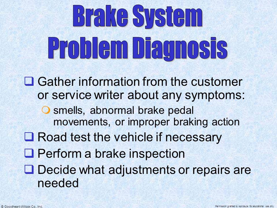 Brake System Problem Diagnosis