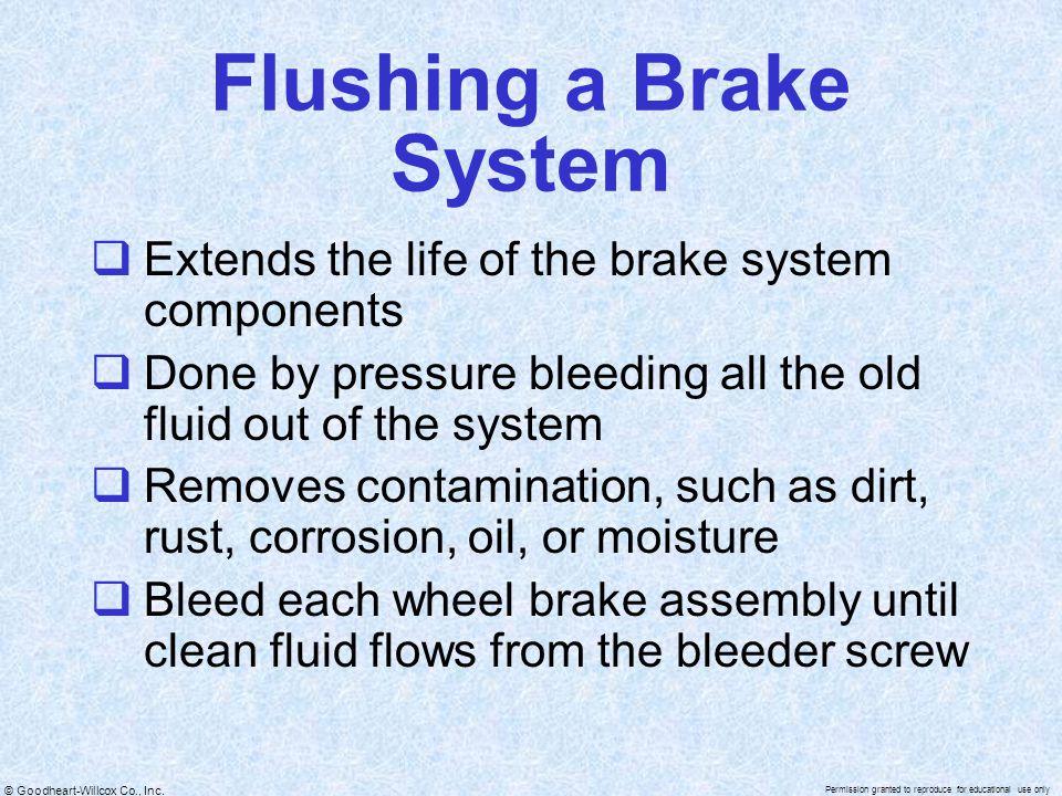 Flushing a Brake System