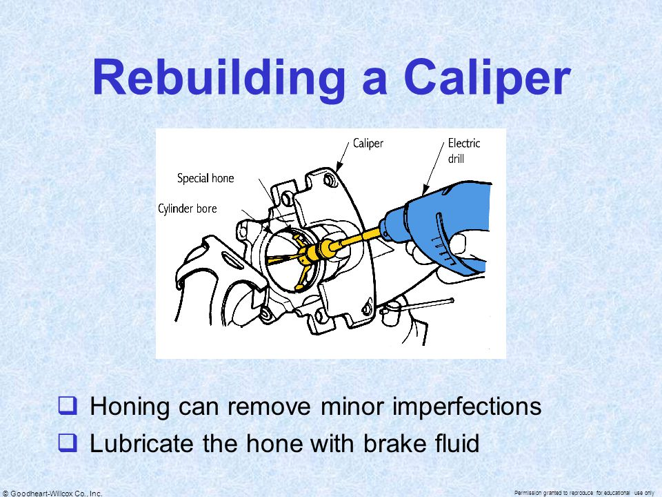 Rebuilding a Caliper Honing can remove minor imperfections