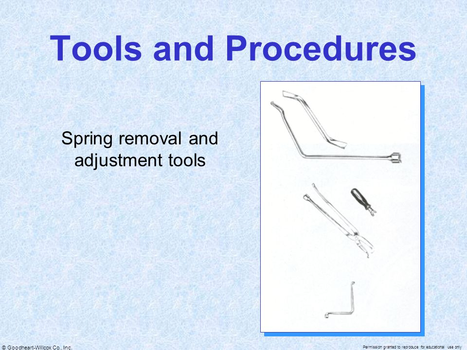 Spring removal and adjustment tools