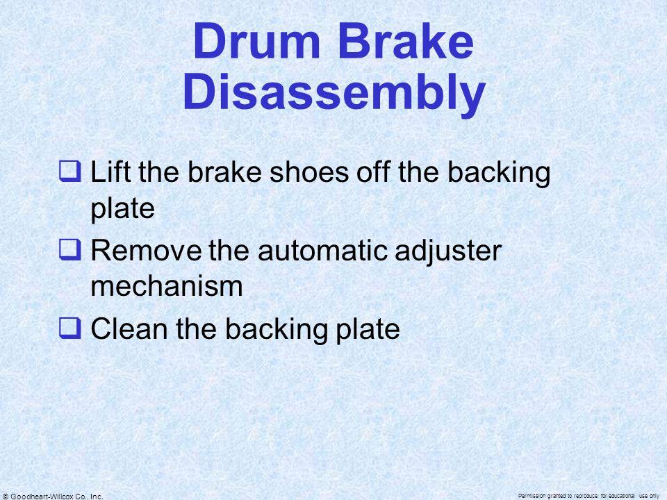 Drum Brake Disassembly