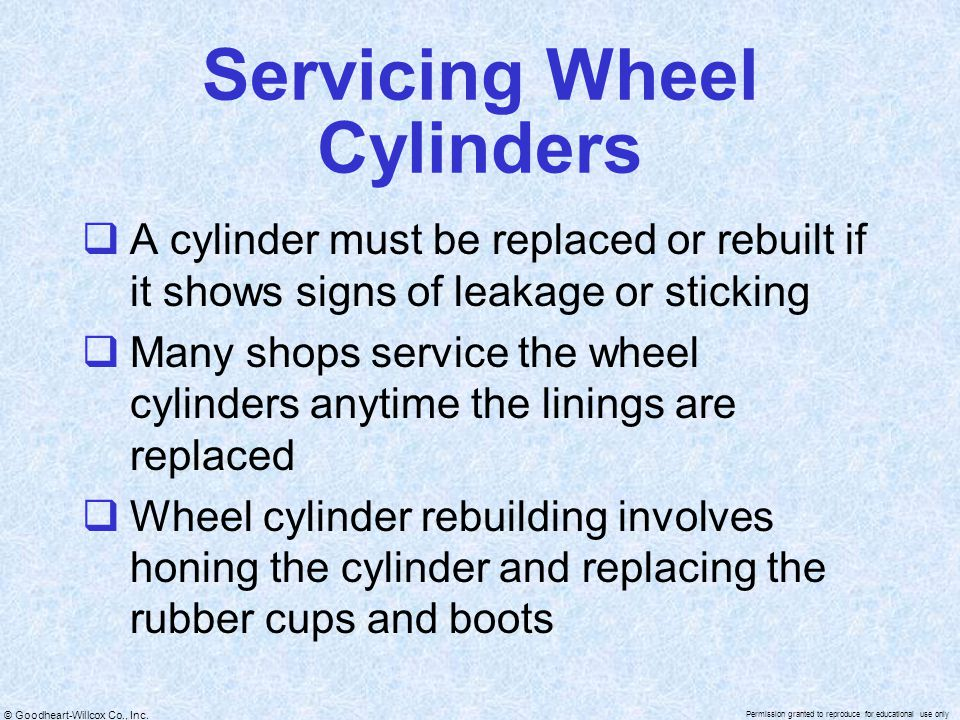 Servicing Wheel Cylinders