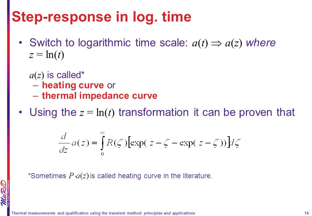 Step-response in log. time