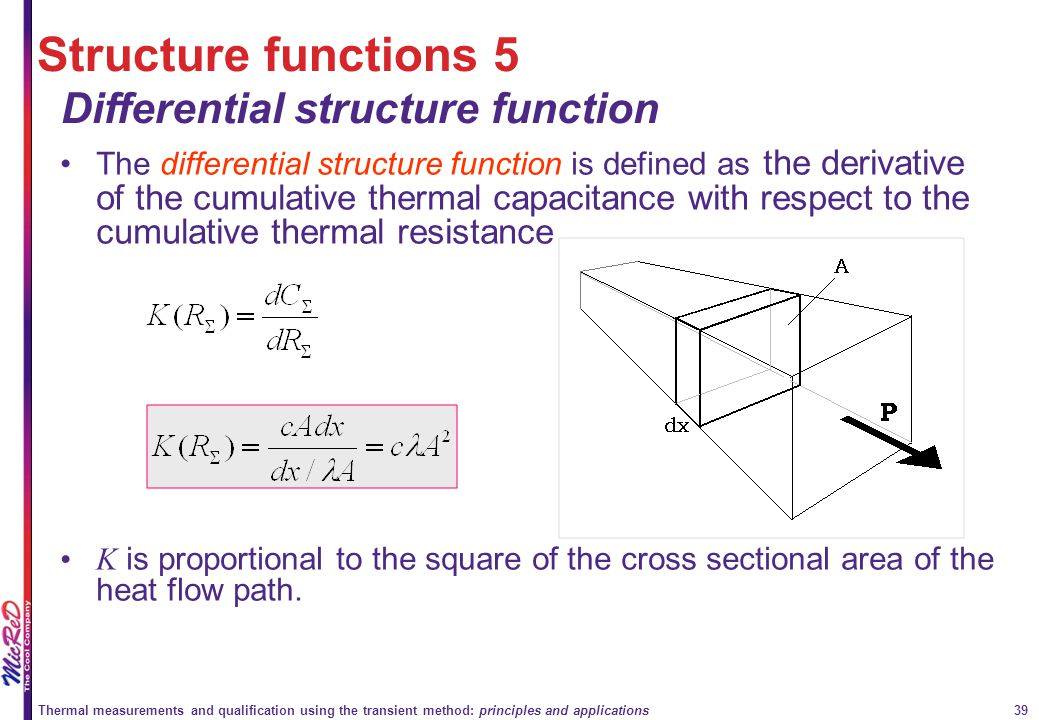 Structure functions 5 Differential structure function