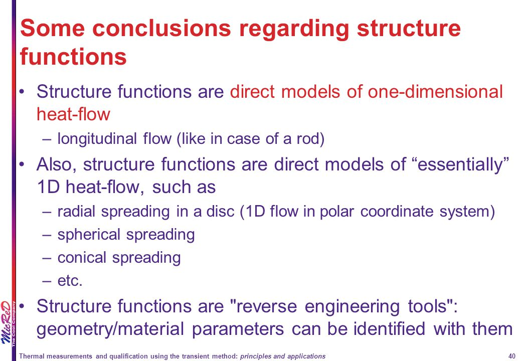 Some conclusions regarding structure functions