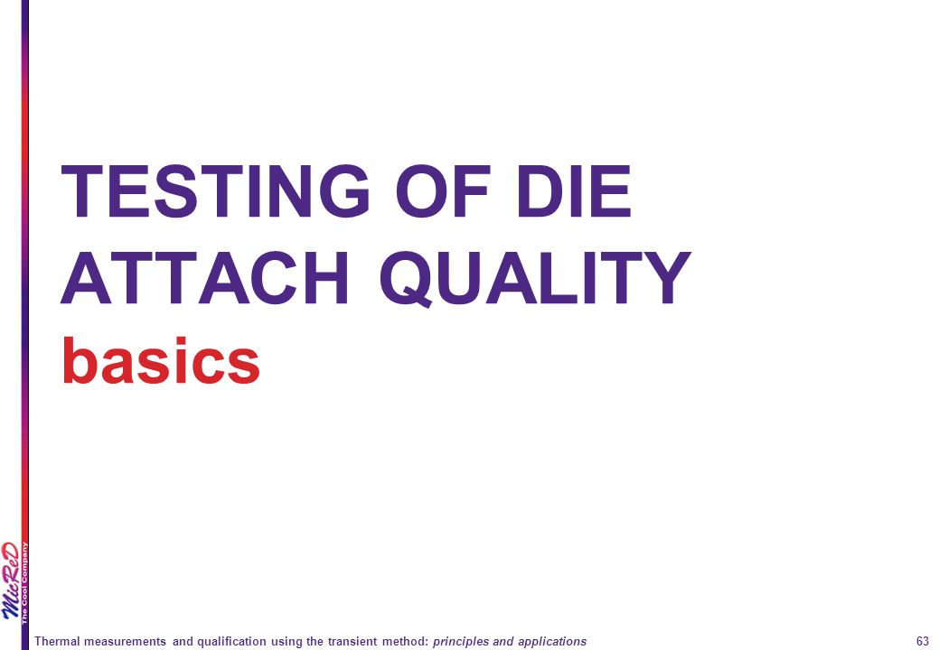 TESTING OF DIE ATTACH QUALITY basics