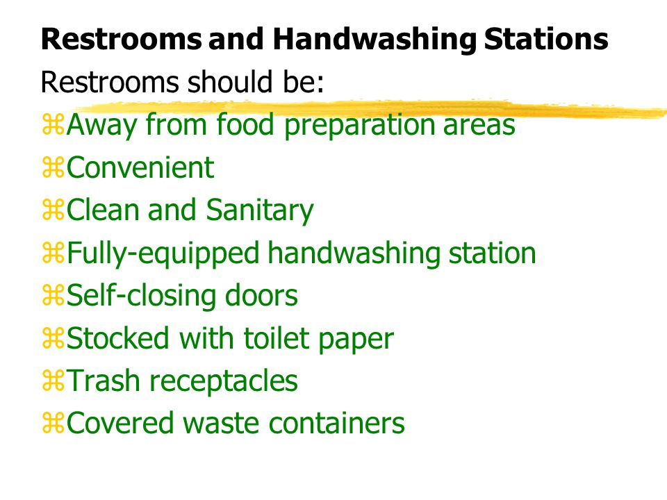Restrooms and Handwashing Stations