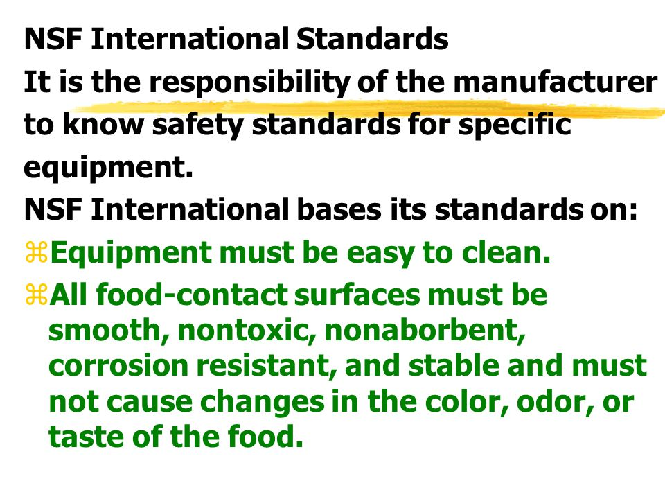 NSF International Standards