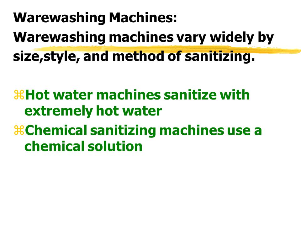Warewashing Machines: