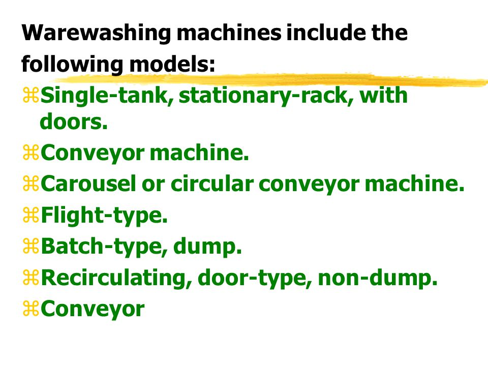 Warewashing machines include the