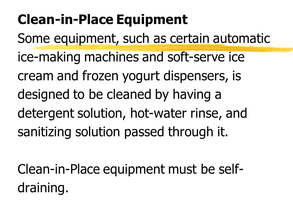 Clean-in-Place Equipment