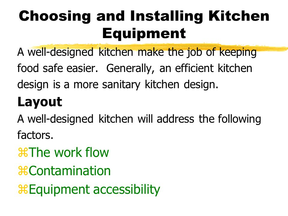 Choosing and Installing Kitchen Equipment