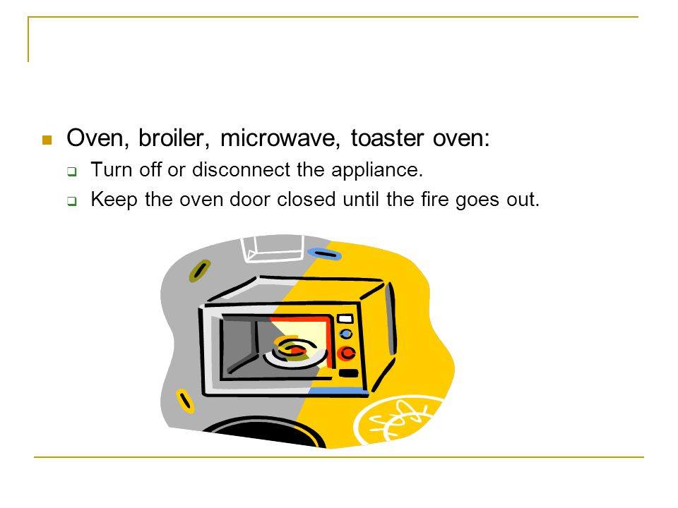 Oven, broiler, microwave, toaster oven:
