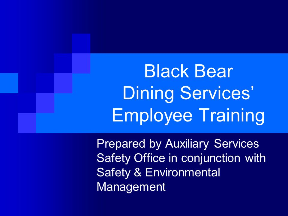 Black Bear Dining Services' Employee Training