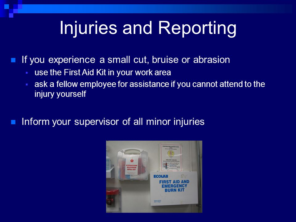 Injuries and Reporting