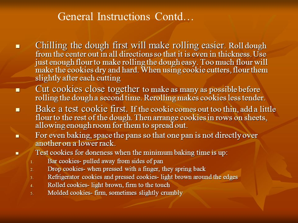 General Instructions Contd…