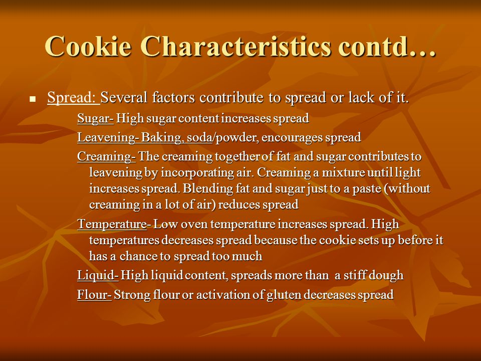 Cookie Characteristics contd…