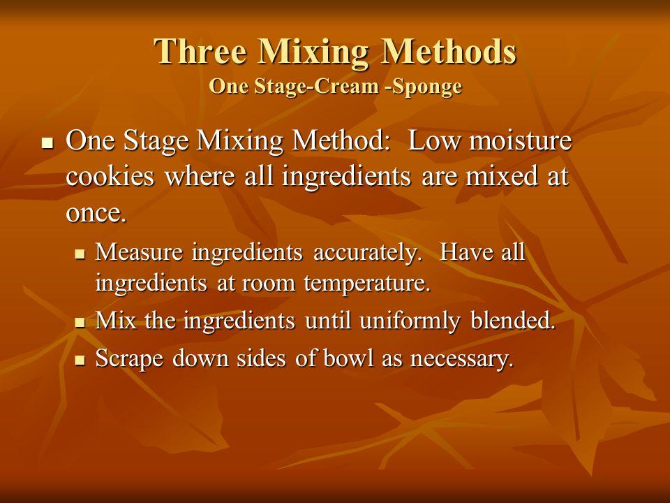 Three Mixing Methods One Stage-Cream -Sponge