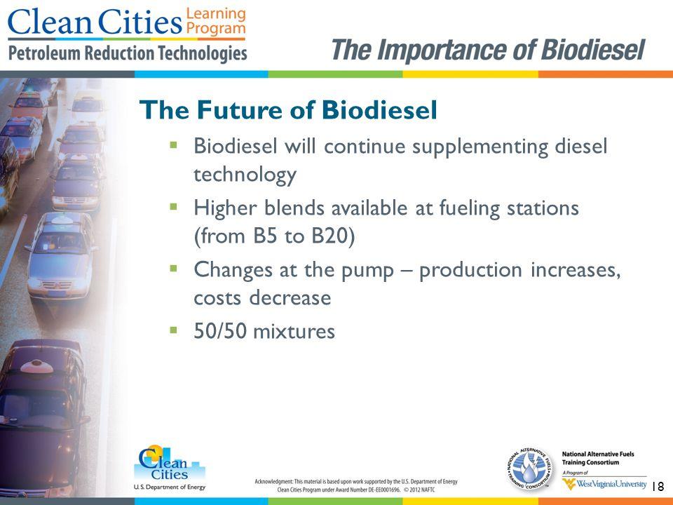 The Future of Biodiesel