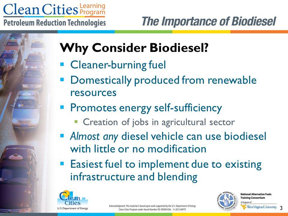 Why Consider Biodiesel