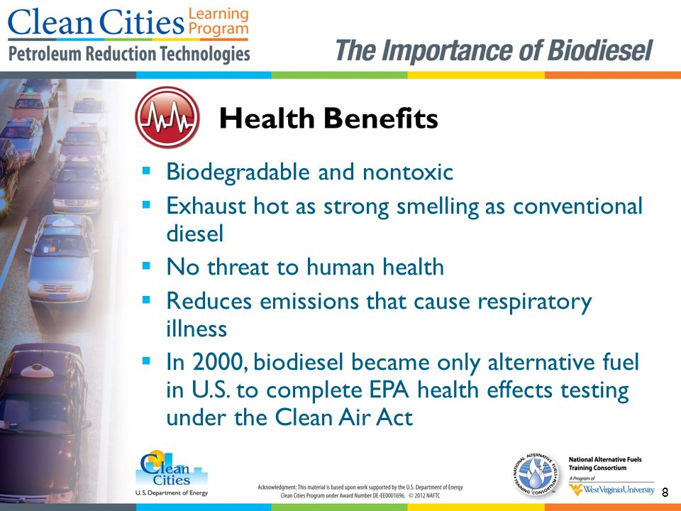 Health Benefits Biodegradable and nontoxic