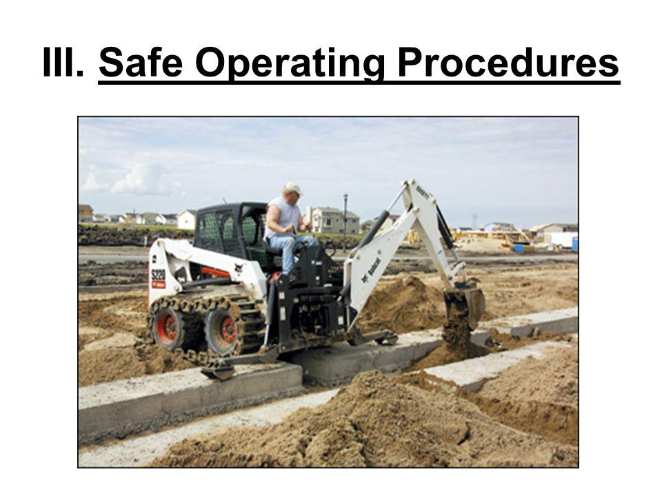 III. Safe Operating Procedures